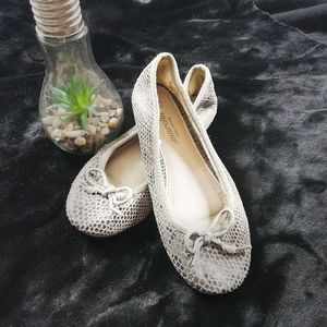 Shoes - Faux snakeskin flats
